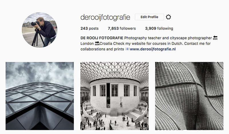 Great cityscape photographers in Instagram