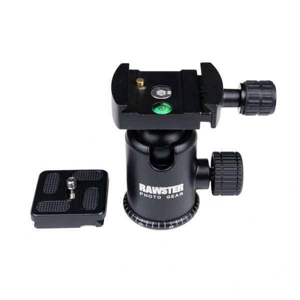 RAWSTER Photo - Aluminium Tripod (ball head spirit level)