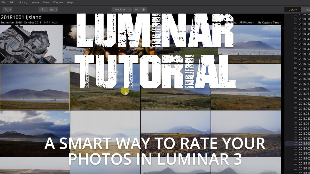 Rating your photos in Luminar 3 • RAWSTER Photo