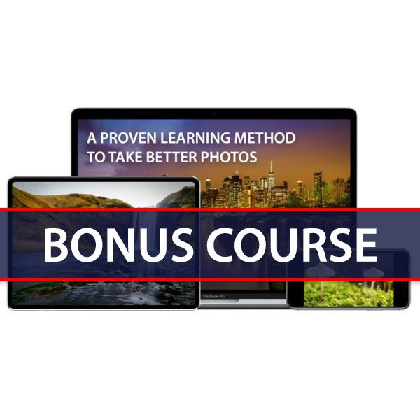 Free bonus course for the online basic photography course