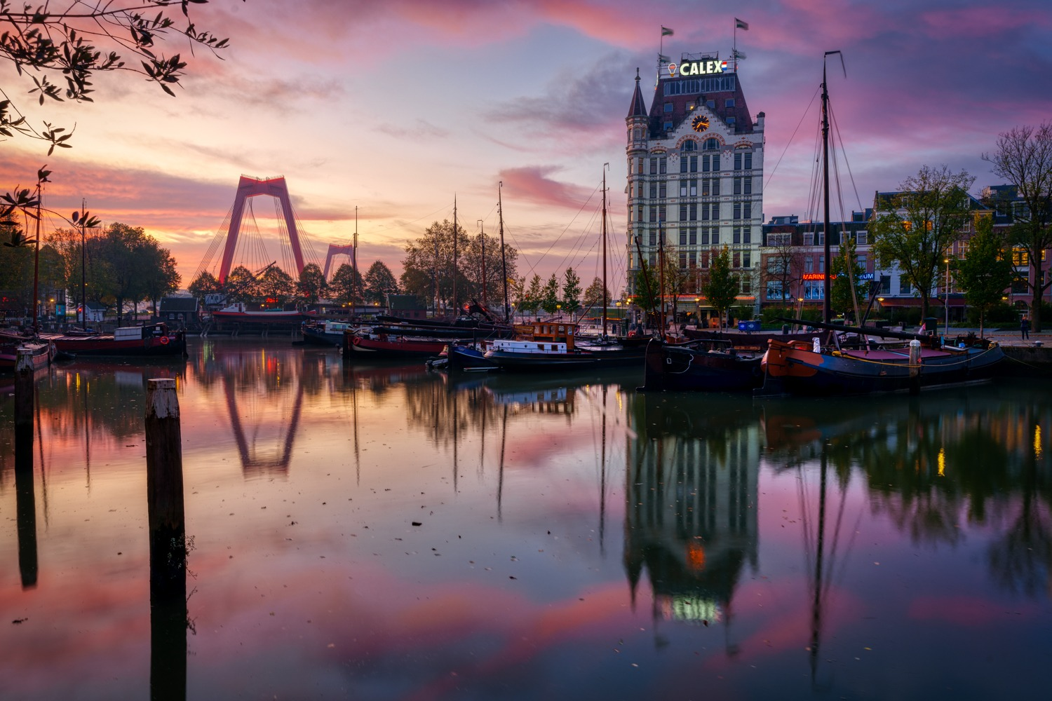 Sunrise at the Old Harbor in Rotterdam